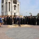 Состоялась высадка памятной кедровой аллеи в честь прпмч. Афанасия Брестского в парке 1000-летия города Бреста.