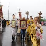 Настоятель и прихожане Христорождественского прихода приняли участие в епархиальном крестном ходу в День Белорусских Святых.